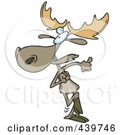 Royalty Free RF Clip Art Illustration Of A Cartoon Happy Dancing Moose by toonaday