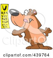 Cartoon Bear Reading An Eye Chart