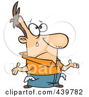 Royalty Free RF Clip Art Illustration Of A Cartoon Broke Man Crying With Turned Out Pockets
