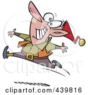 Royalty Free RF Clip Art Illustration Of A Cartoon Chritmas Elf Dancing