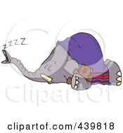 Royalty Free RF Clip Art Illustration Of A Cartoon Sleeping Elephant