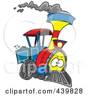 Royalty Free RF Clip Art Illustration Of A Cartoon Steam Engine Train by toonaday
