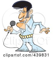 Royalty Free RF Clip Art Illustration Of A Cartoon Elvis Impersonator Singing by toonaday