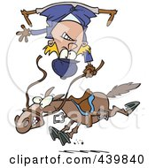 Royalty Free RF Clip Art Illustration Of A Cartoon Horse Throwing A Rider