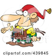 Royalty Free RF Clip Art Illustration Of A Cartoon Christmas Elf Handy Man