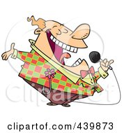 Royalty Free RF Clip Art Illustration Of A Cartoon Loud Entertainer