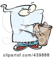 Royalty Free RF Clip Art Illustration Of A Cartoon Ghost Boy Trick Or Treating by toonaday