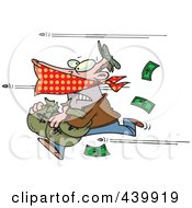 Cartoon Bullets Shooting At A Robber