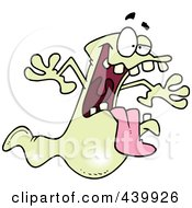 Royalty Free RF Clip Art Illustration Of A Cartoon Spooky Ghost