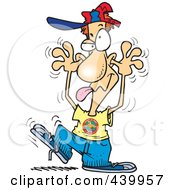 Royalty Free RF Clip Art Illustration Of A Cartoon Man Making A Funny Face