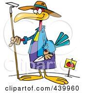 Royalty Free RF Clip Art Illustration Of A Cartoon Bird In A Tomato Garden by toonaday