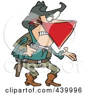 Royalty Free RF Clip Art Illustration Of A Cartoon Outlaw Cowboy Demanding by toonaday