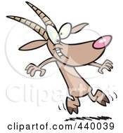 Royalty Free RF Clip Art Illustration Of A Cartoon Goat Dancing