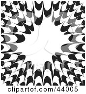 Clipart Illustration Of A Black And White Bursting Background With White Text Space by Arena Creative