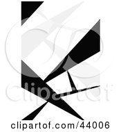 Clipart Illustration Of An Abstract Background Of Black Thorns