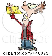 Royalty Free RF Clip Art Illustration Of A Cartoon Man Chugging Milk From The Carton