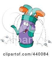Royalty Free RF Clip Art Illustration Of A Cartoon Golf Bag