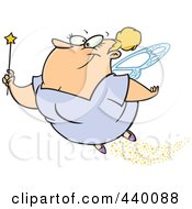 Royalty Free RF Clip Art Illustration Of A Cartoon Fairy Godmother Flying by toonaday