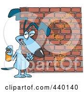 Cartoon Dog Spray Painting Graffiti