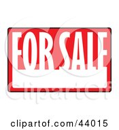 Clipart Illustration Of A Black Red And White For Sale Sign With Space For Information
