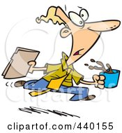 Royalty Free RF Clip Art Illustration Of A Cartoon Office Gofer Assistant by toonaday