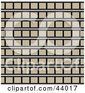 Clipart Illustration Of A Seamless Film Strip Background With Blank Frames