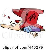Royalty Free RF Clip Art Illustration Of A Cartoon Debt Anvil Crushing A Man