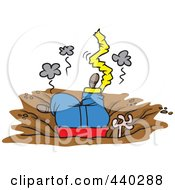 Royalty Free RF Clip Art Illustration Of A Cartoon Man Crashing In A Bad Bungee Accident