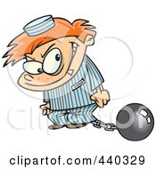 Royalty Free RF Clip Art Illustration Of A Cartoon Bad Boy In A Prison Uniform by toonaday