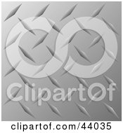 Clipart Illustration Of A Shiny Silver Metal Plate Background