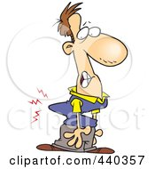 Royalty Free RF Clip Art Illustration Of A Cartoon Man With A Crooked Back
