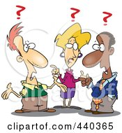 Royalty Free RF Clip Art Illustration Of A Cartoon Group Of Confused Business People
