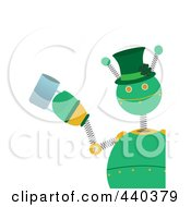 St Paddys Day Robot Holding A Beer Mug