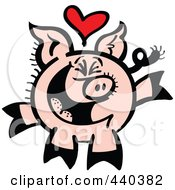 Infatuated Pig Smiling 2 by Zooco