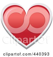 Royalty Free RF Clip Art Illustration Of A Red Heart With White Trim