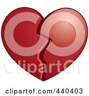 Royalty Free RF Clip Art Illustration Of A Plump Broken Heart