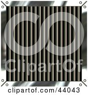 Clipart Illustration Of A Metal Grate Background