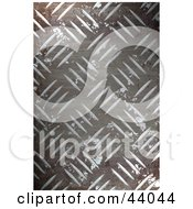Clipart Illustration Of A Rusted Grungy Diamond Plate Textured Background by Arena Creative