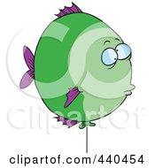 Royalty Free RF Clip Art Illustration Of A Cartoon Balloon Fish