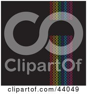 Vertical Rainbow Of Colorful Circles On Black