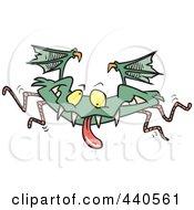 Royalty Free RF Clip Art Illustration Of A Cartoon Monster Bat