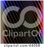Clipart Illustration Of A Background Of Abstract Diagonal Rainbow Lines On Black