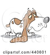 Royalty Free RF Clip Art Illustration Of A Cartoon Droopy Eared Basset Hound