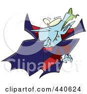 Royalty Free RF Clip Art Illustration Of A Cartoon Batty Vampire by toonaday