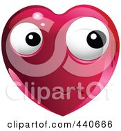 Royalty Free RF Clip Art Illustration Of A Nervous Red Heart Character