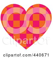 Royalty Free RF Clip Art Illustration Of A Checkered Heart
