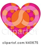 Royalty Free RF Clip Art Illustration Of A Pink Dotted Heart