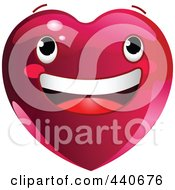 Royalty Free RF Clip Art Illustration Of A Smiling Red Heart Character