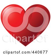 Royalty Free RF Clip Art Illustration Of A Shiny Red Valentine Heart