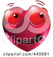 Royalty Free RF Clip Art Illustration Of A Scared Love Struck Red Heart Character